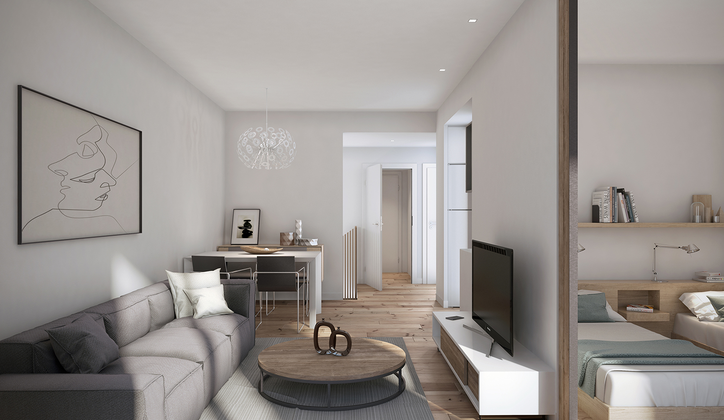 Imágen 3d Interior design por ASARCH, Barcelona