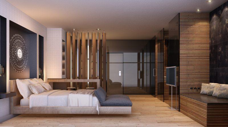 Imágen 3d Habitación Hotel Jumeirah por INTERCON,EAU