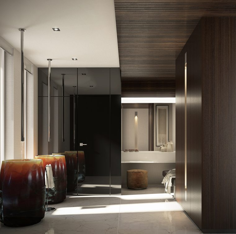 3d Interior Design Cloak Room by Intercon, UK