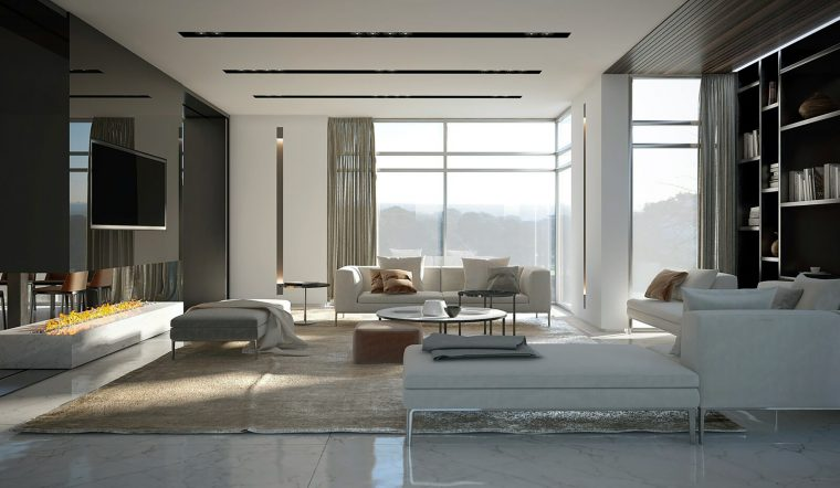3d Interior design Living by Intercon, UK