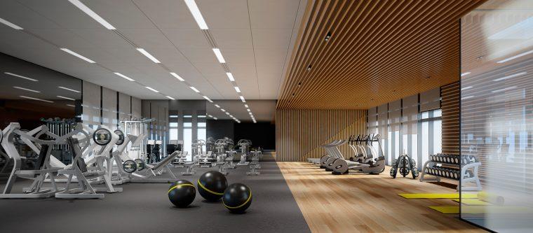 3d Interior Design Gym by INTERCON, UAE